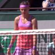 Lucie Sarafova lors de la finale dames de Roland-Garros (S. Williams / L. Safarova), à Paris, le samedi 6 juin 2015.