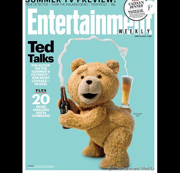 Couverture d'Entertainment Weekly pour le film Ted. Il parodie Kim Kardashian.