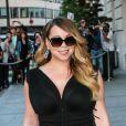Mariah Carey sort du Peninsula et se rend au restaurant l'Avenue à paris le 7 juin 2015