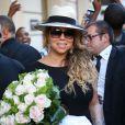 Mariah Carey arrive à son hôtel le Peninsula à Paris, le 6 juin 2015.
