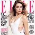Amber Heard pose en couverture de l'édition américaine du magazine ELLE pour son numéro de juillet 2015.