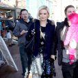 Holly Madison, Pasquale Rotella et leur fille Rainbow à Park City pour le festival de Sundance, le 18 janvier 2014.
