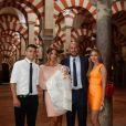 Pepe Reina, sa femme Yolanda et leurs proches à Cordoue le 14 juin 2015 pour le baptême de leur fille Sira (6 mois).