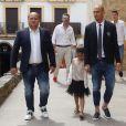 Pepe Reina à Cordoue le 14 juin 2015 pour le baptême de sa fille Sira (6 mois) devant de nombreux membres de sa famille.
