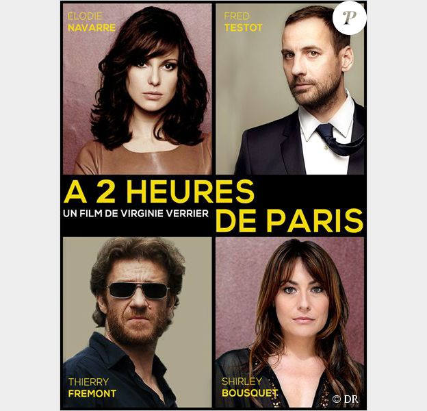 Affiche teaser du projet de film A deux heures de Paris