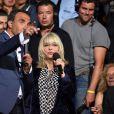 Exclusif - Nikos Aliagas et France Gall, dans les arènes de Nîmes à l'occasion de la spéciale Fête de la musique de l'émission La Chanson de l'année sur TF1, le samedi 20 juin 2015.