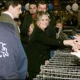 Brigitte Bardot au Noel des animaux 2004 à Levallois Perret, le 18 décembre 2004