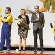 """Janet Healy et Stéphane Huard - Avant-première du film """"Les Minions"""" au Grand Rex à Paris le 23 juin 2015."""