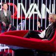 Exclusif - Enregistrement du programme  Le Divan  présentée par Marc-Olivier Fogiel avec Claire Chazal en invitée, le 23 mai 2015.