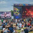 Izia - 17e Festival Solidays à l'Hippodrome de Longchamps le 26 juin 2015.