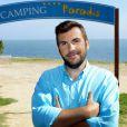 Laurent Ournac sur le tournage de  Camping Paradis  (épisode diffusé le mardi 23 juin 2015 à 20h55 sur TF1).
