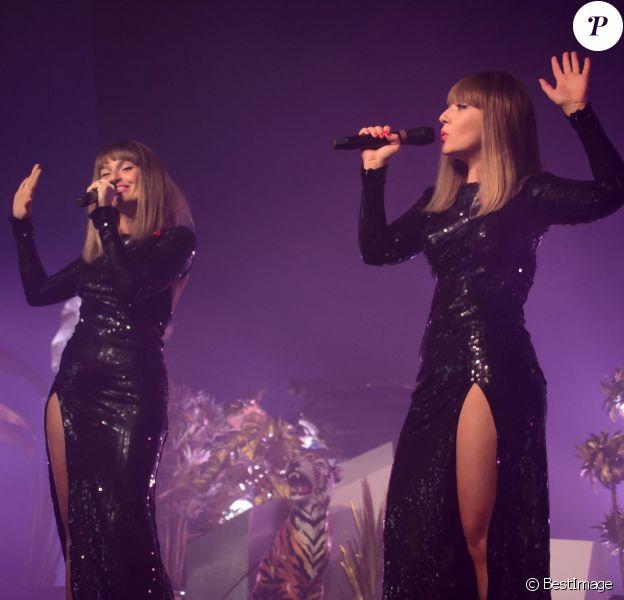 Brigitte est un duo de chanteuses françaises, composé de Sylvie Hoarau et Aurélie Saada - 17e édition du festival Solidays sur l'hippodrome de Longchamp à Paris le 27 juin 2015.