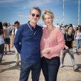 Antoine De Caunes et Maitena Biraben 17e édition du festival Solidays sur l'hippodrome de Longchamp à Paris le 27 juin 2015.