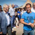 Claude Bartolone, Luc Barruet et Jean-Paul Huchon - 17e édition du festival Solidays sur l'hippodrome de Longchamp à Paris le 27 juin 2015.