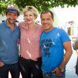Stephane De Groodt, Maitena Biraben et Luc Barruet - 17e édition du festival Solidays sur l'hippodrome de Longchamp à Paris le 27 juin 2015.