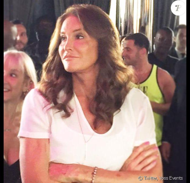 Caitlyn Jenner fait une apparition lors d'une fête organisée par Voss Events pour la Gay Pride à l'hôtel Dream Downtown à New York, dimanche 25 juin 2015.