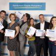 Gil Alma, Corinne Touzet, Vincent Chatelain, Emmanuelle Boidron, Bernard de La Villardière et Marie-Ange Casalta ambasseurs de la fondation Claude Pompidou. Juin 2015.