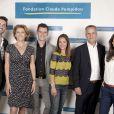 Gil Alma, Corinne Touzet, Vincent Chatelain, Emmanuelle Boidron, Bernard de La Villardière et Marie-Ange Casalta - Ambasseurs de la fondation Claude Pompidou. Juin 2015.