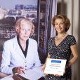 Corinne Touzet - Présentation des nouveaux ambassadeurs et ambassadrices people de la fondation Claude Pompidou. Juin 2015.