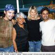 Elder, Prosper, sa mère et Serena - Francis Lalanne fête ses 45 ans à Montpellier, le 18 aout 2003