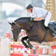John Whitaker sur Argento - Grand Prix de Paris lors du Longines Paris Eiffel Jumping au Champ-de-Mars à Paris, le 4 juillet 2015.