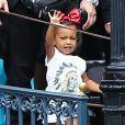 North West assiste à l'anniversaire de Penelope Disick (3 ans) au parc d'attractions Disneyland. Anaheim, le 8 juillet 2015.