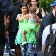Kourtney Kardashian et sa fille Penelope, qui fête ses 3 ans, passent leur après-midi au parc d'attractions Disneyland. Anaheim, le 8 juillet 2015.