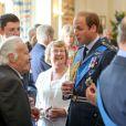 Le prince William, le duc d'Edimbourg, le prince Edward, la comtesse Sophie de Wessex, le duc de Gloucester et le duc de Kent participaient le 10 juillet 2015 à une réception et un déjeuner au RAFClub, à Londres, dans le cadre des commémorations des 75 ans de la Bataille d'Angleterre.