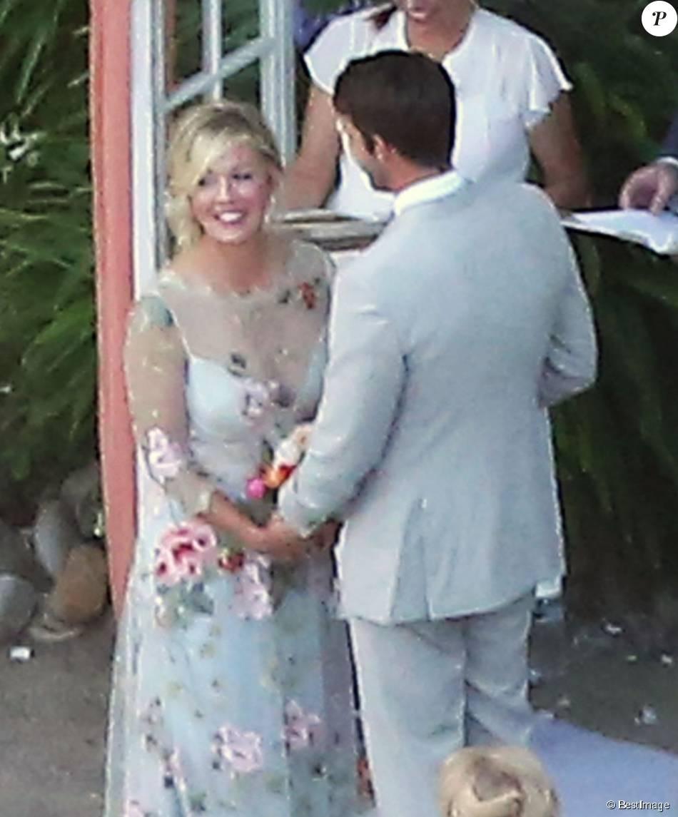 Exclusif - Mariage de Jennie Garth et David Abrams dans son ranch à Santa Ynez, le 11 juillet 2015.