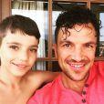 Peter Andre et son fils - Photo postée sur Instagram / juin 2015