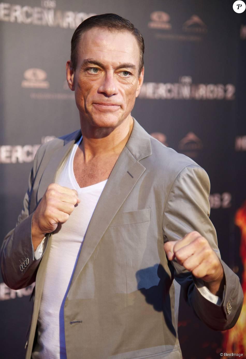 Jean-Claude Van Damme à Madrid  le 8 août 2012.