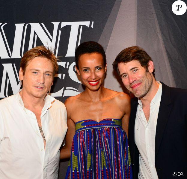 Benoît Magimal, Sonia Rolland et Jalil Lespert - Soirée anniversaire des 250 ans de la marque Saint James en Martinique.