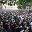 La foule lors du Festival Fnac Live devant l'hôtel de ville de Paris, le 16 juillet 2015.