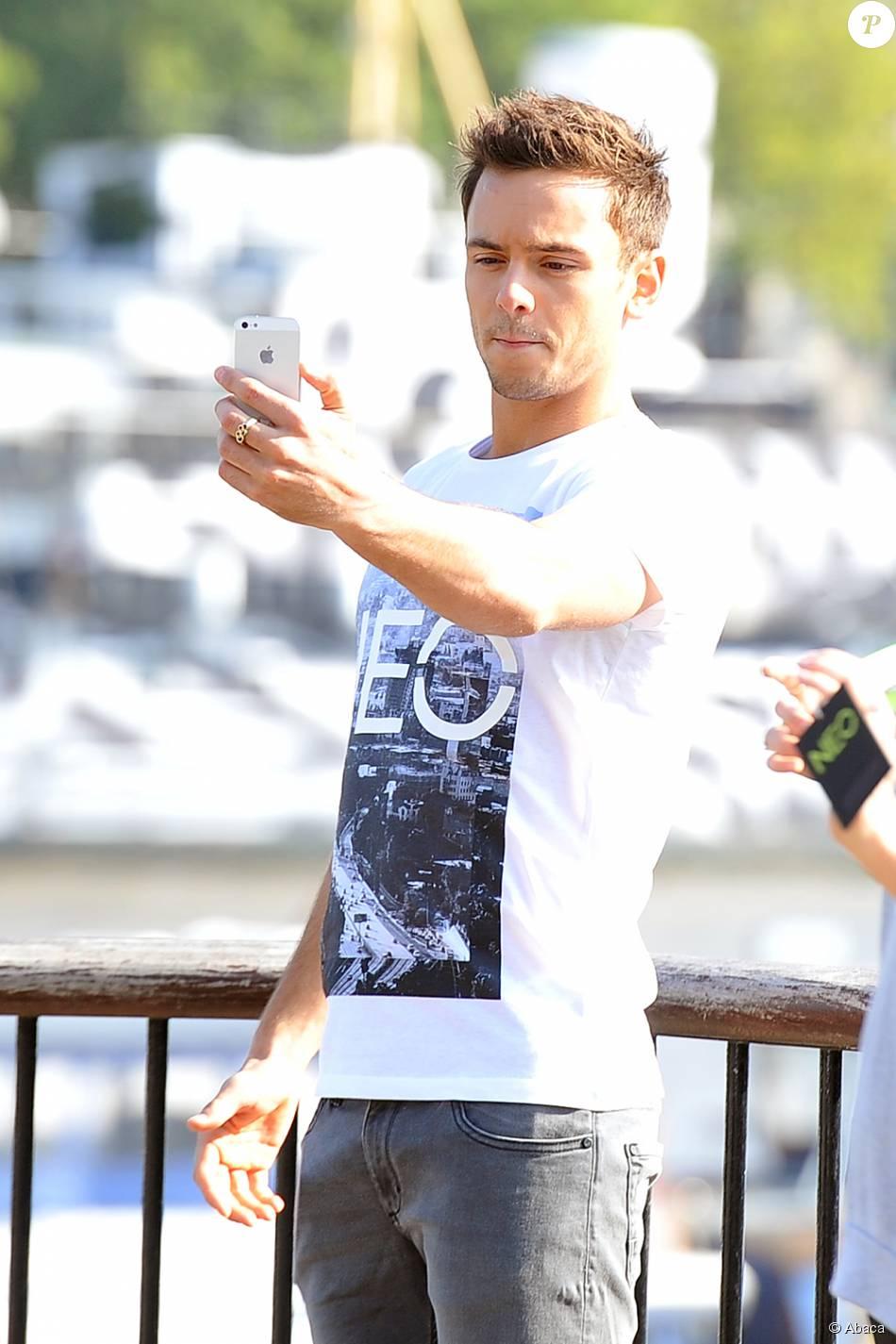 Tom Daley en shooting pour Adidas Neo Label à Londres, le 27