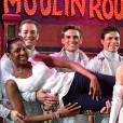 Exclusif - Marie-José Pérec aux côtés des artistes du Moulin Rouge et de son compagnon Sébastien Foucras à Paris le 21 juillet 2015.
