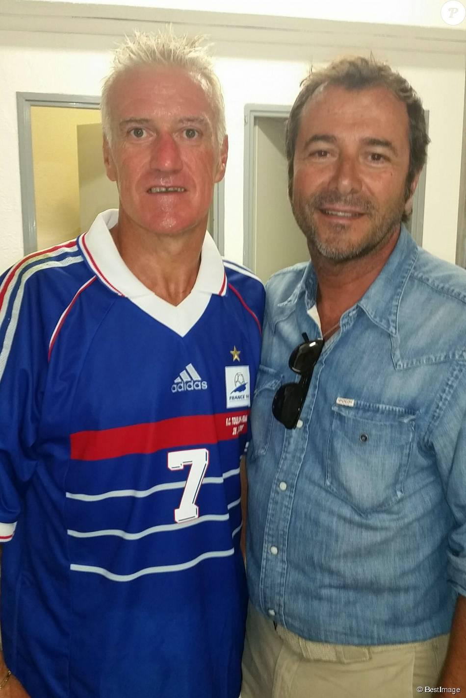 Didier deschamps et bernard montiel match amical de foot et rugby entre le rc toulon et l - Bernard montiel vie privee ...
