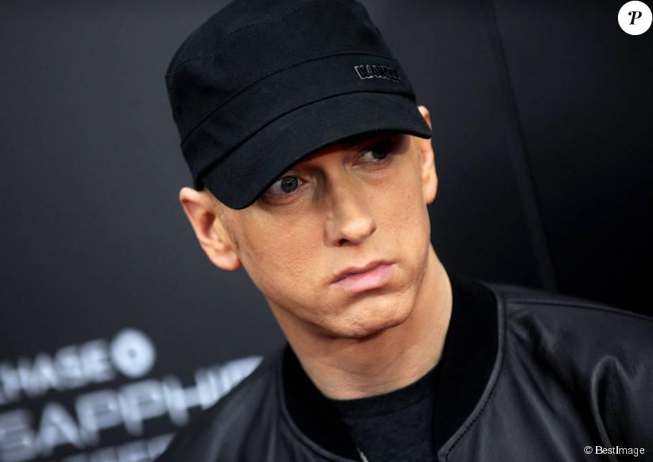 """Eminem à l'avant-première du film """"Southpaw"""" à New York. Le 20 juillet 2015."""