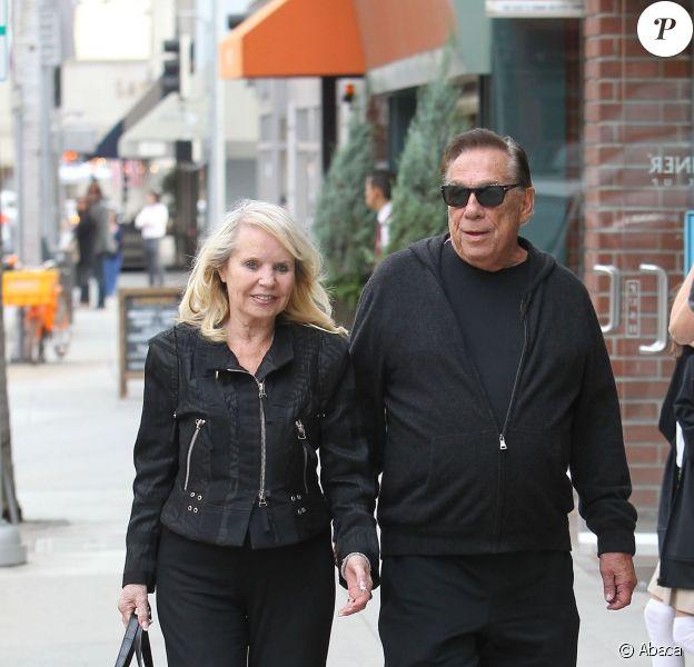 Donald Sterling et sa future ex-femme Shelly à Beverly Hills, Los Angeles, le 13 novembre 2014