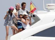 Elena d'Espagne et ses enfants: Supporters en mer de Felipe pour la Copa del Rey