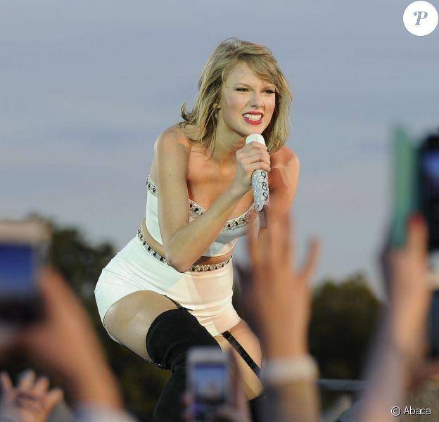 Taylor Swift en concert au Barclaycard British Summer Time de Londres, le 27 juin 2015