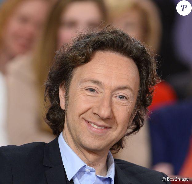 """Stéphane Bern - Enregistrement de l'émission """"Vivement Dimanche"""" à Paris le 18 Fevrier 2015."""