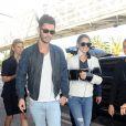 Cheryl Fernandez-Versini (Cheryl Cole) et son mari Jean-Bernard Fernandez-Versini vont prendre un avion à l'aéroport de Nice, le 16 mai 2015.