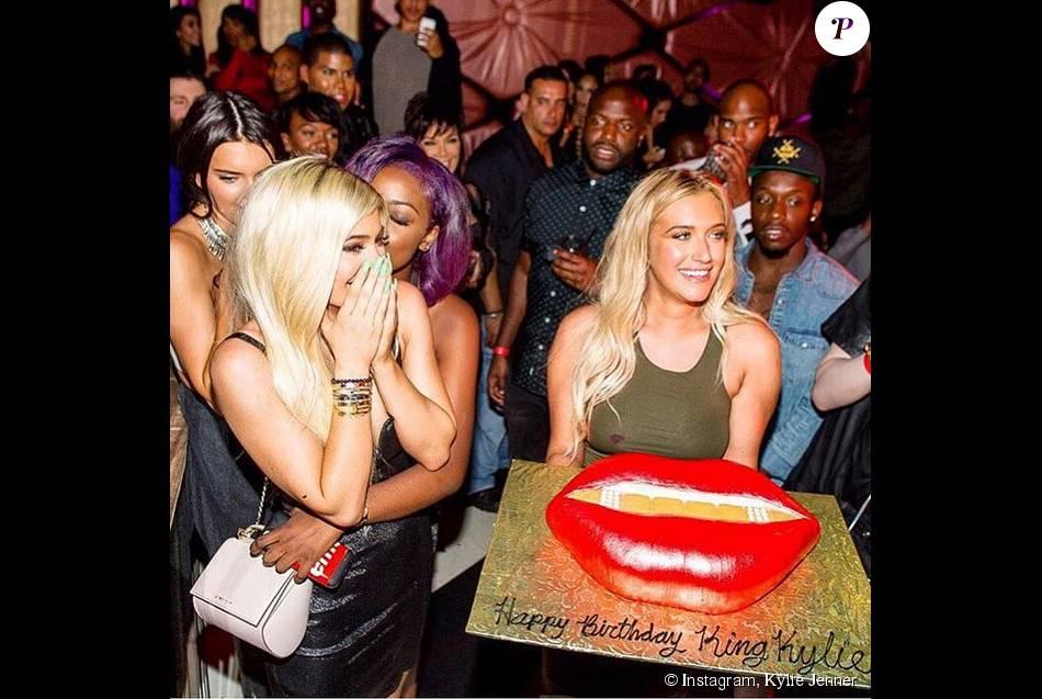 Kylie Jenner fête ses 18 ans au Bootsy Bellows à Los Angeles. Le 10 août 2015.