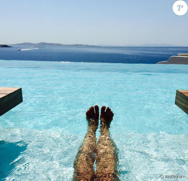 Pauline Ducruet, photo Instagram de ses vacances au Cavo Tagoo à Mykonos, août 2015