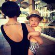 Franckie Bridge et son fils Parker sur Instagram - Juin 2015