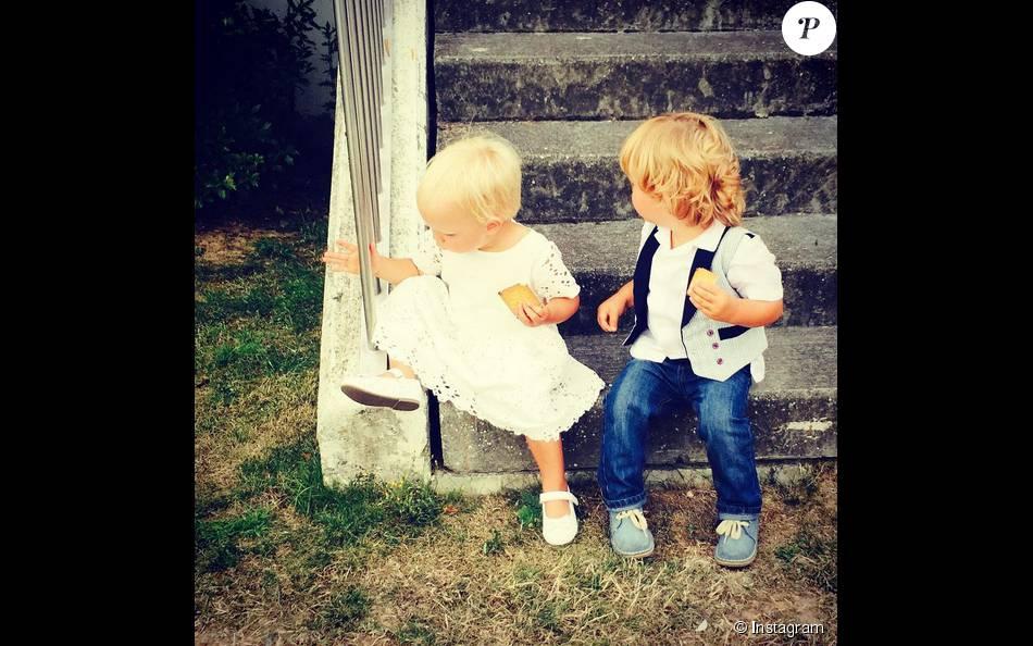 Elodie Gossuin poste une photo de ses adorables jumeaux Joséphine et Leonard, bientot deux ans