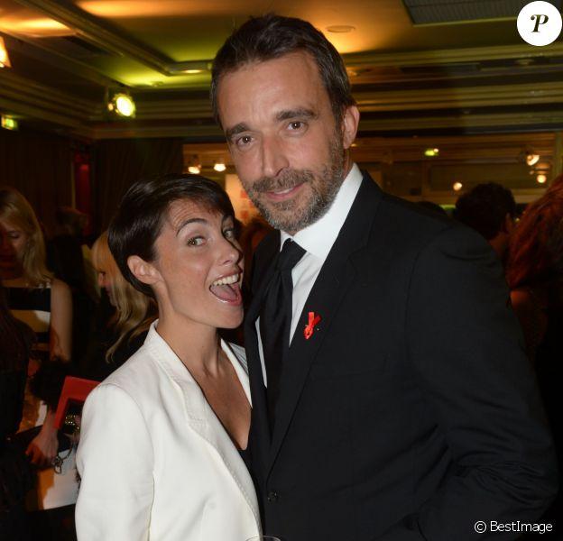 Archives - Alessandra Sublet et son mari Clément Miserez - Dîner de la mode pour le Sidaction au pavillon d'Armenonville à Paris. Le 23 janvier 2014.