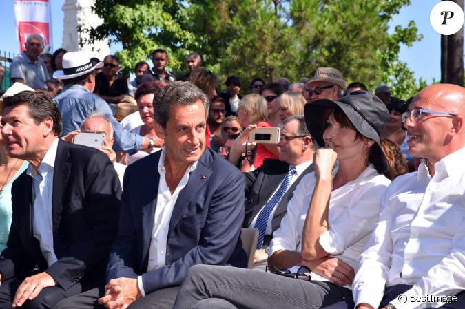 christian estrosi le d put maire de la ville de nice nicolas sarkozy avec sa femme carla. Black Bedroom Furniture Sets. Home Design Ideas