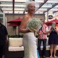Sonya Benson, ravissante mariée à New York. Le28 août 2015.