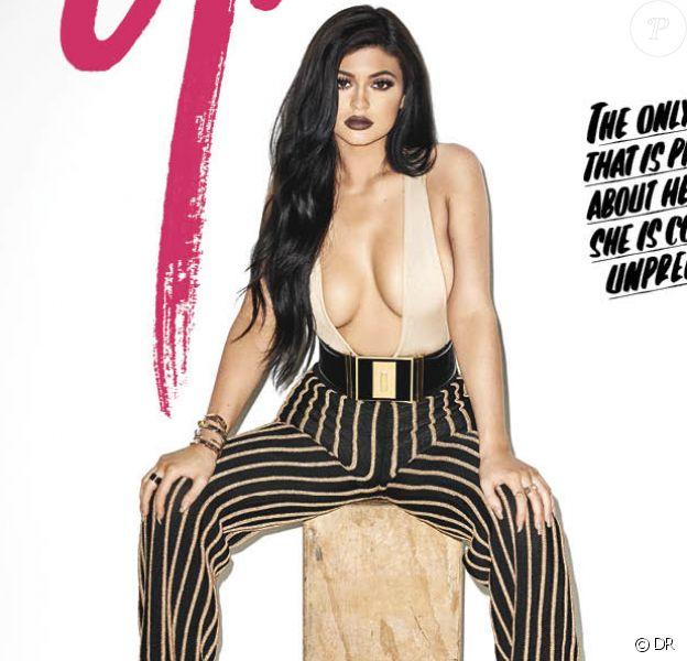 Kylie Jenner en couverture du numéro de septembre 2015 du magazine Galore. Photo par Terry Richardson.